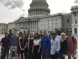 A group of Teach For America alumni participating in the Capitol Hill Fellows Program