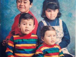 Manny Macias (bottom, left) and his siblings made the most of what they had growing up in Santa Ana.