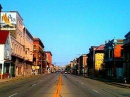 Street view of Walker's Point neighborhood, in Milwaukee, WI.