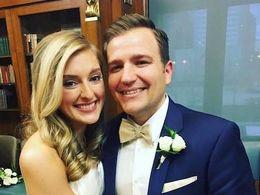 Ron Sandlin and his wife, Lauren McMahon.
