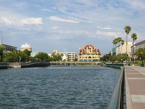 Stockton's waterfront.