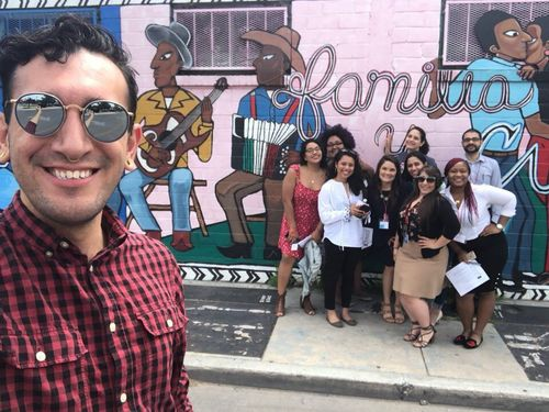 TFA Latinx members pose together for a selfie.