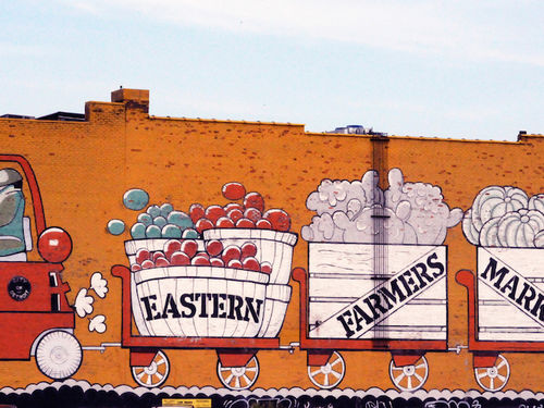 Eastern Farmer's Market wall mural.