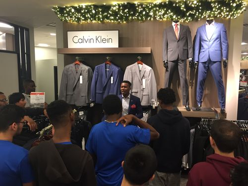 Students shop for suits