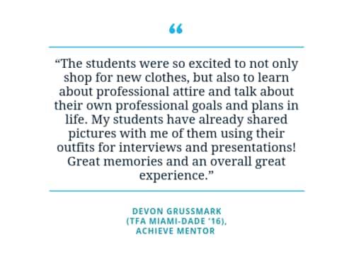 Quote by Devon Grussmark, Achieve Mentor