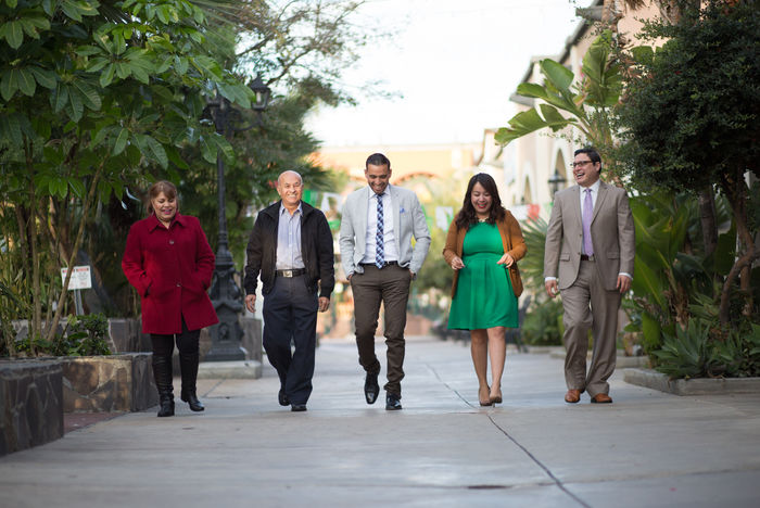 A group of community leaders walking together.