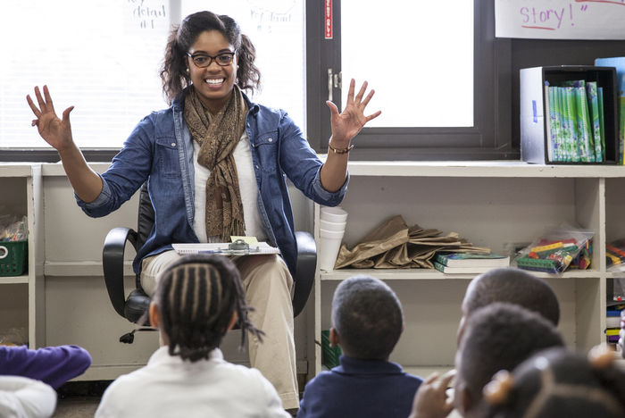 Teach For America Teacher and Students in Memphis