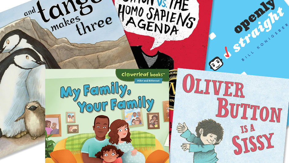 A collage of five different books to add to your inclusive library.