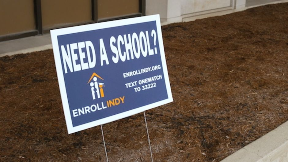 Enroll Indy yard sign.