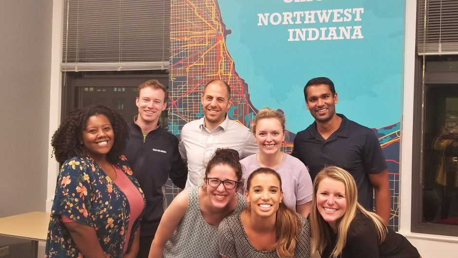 Members of Teach For America Chicago Northwest-Indiana Alumni Leadership Council.