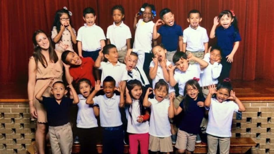 Morgan Weisman's kindergarten class.