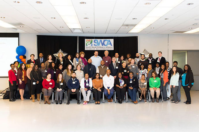 SWCA staff and partners gathered this month for the Promise Neighborhood kick-off