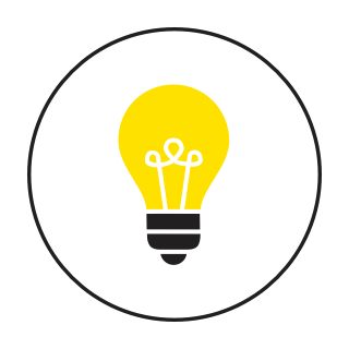 A lightbulb icon.