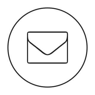 Icon showing an email