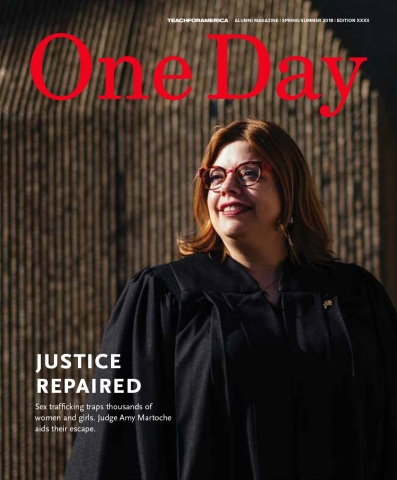 The cover of One Day magazine featuring a judge