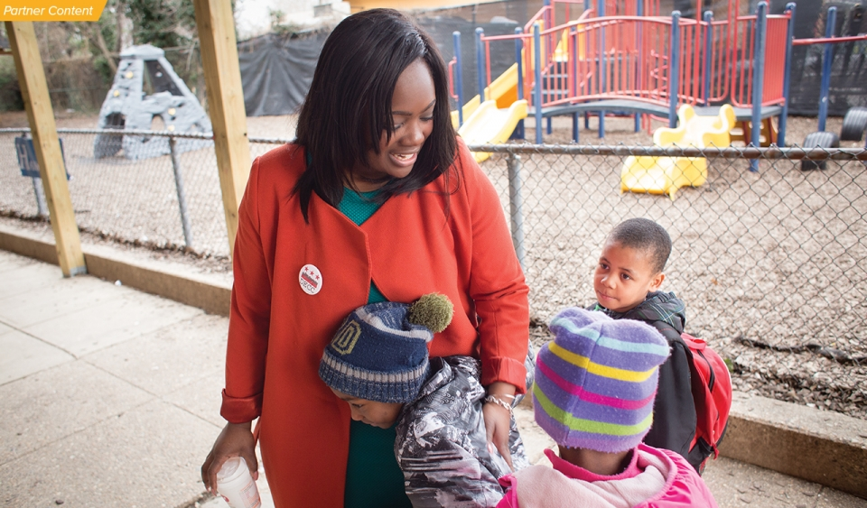 Deeper engagement with families has helped raise achievement at Stanton Elementary School, where Rena Johnson (Atlanta '05) is principal.