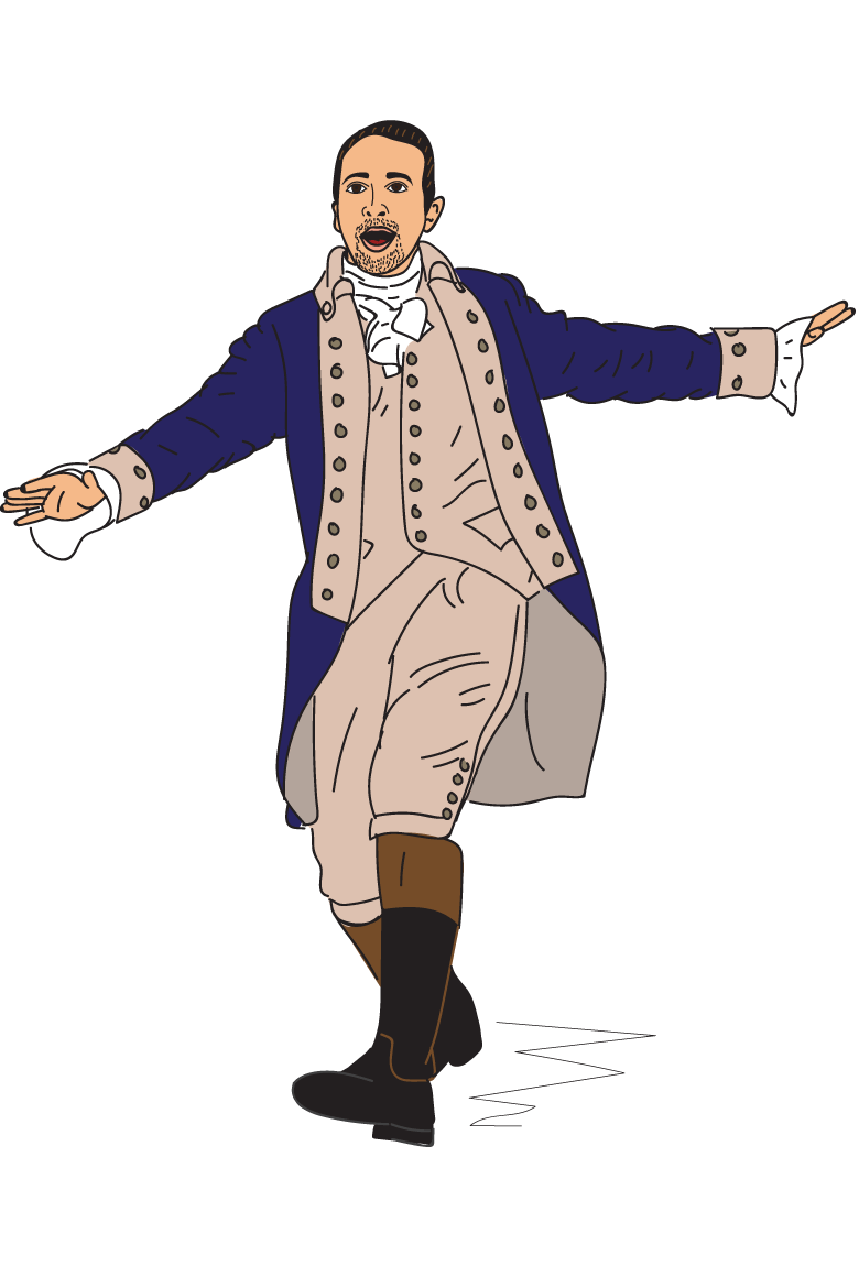 Alexander Hamilton, an illustration from the broadway play