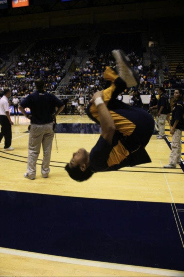 cheerleader doing backflip