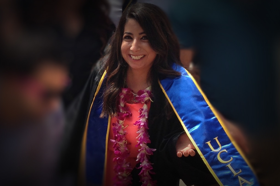 student at college graduation