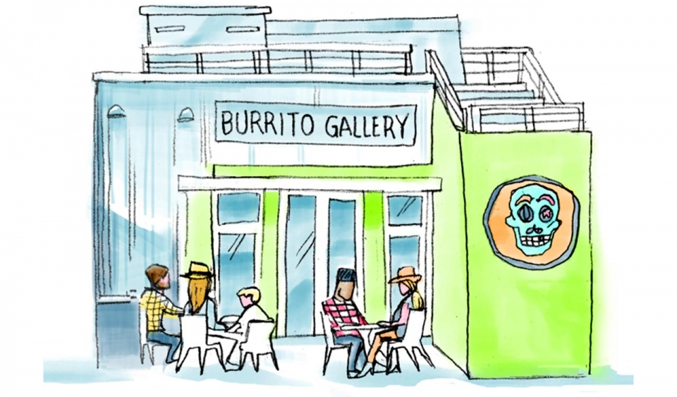 An illustration of a shop