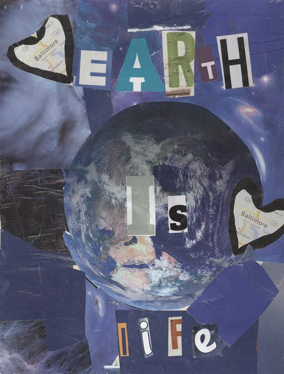 artwork of words on earth