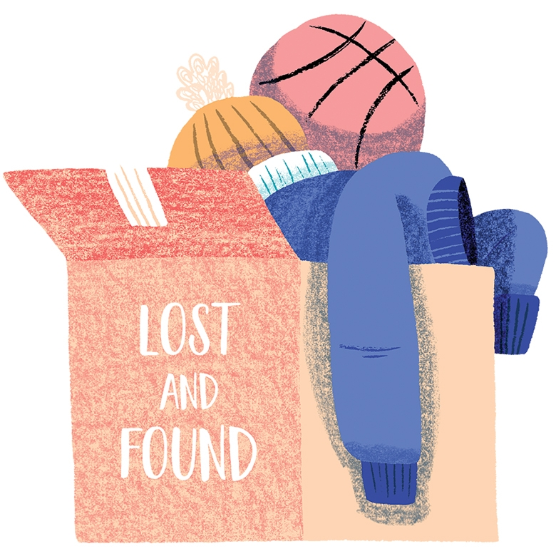 An illustration of a lost and found box