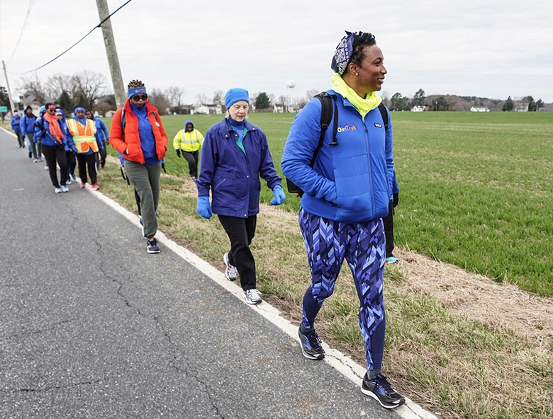 GirlTrek's national team walked the 100-mile trek along the Underground Railroad route where Tubman made her escape
