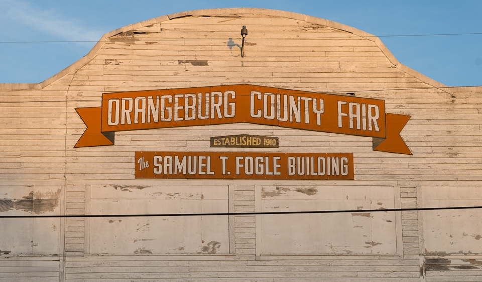 A barn painted for the Orangeburg County Fair in South Carolina