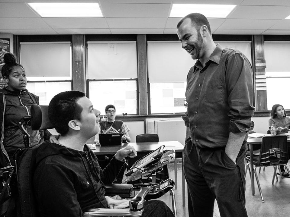 A man teaching