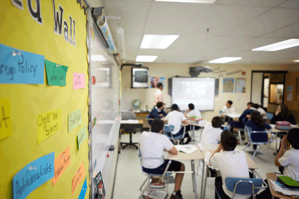 Students in the classroom.