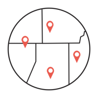 Icon of points on a map.