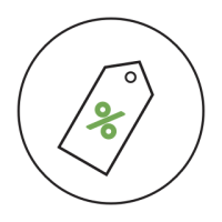 an icon of a sale tag