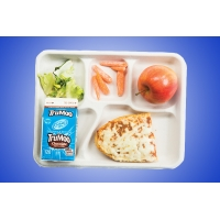 A school cafeteria lunch