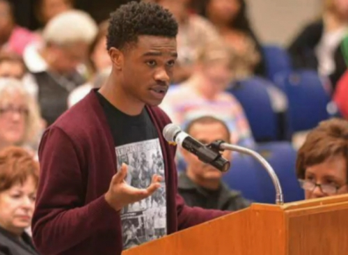 Clifton Kinnie was one of the youngest activists in Ferguson this year.