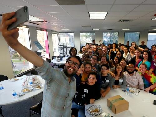 A big group selfie