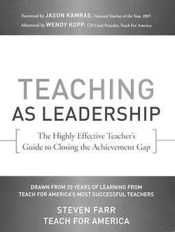 A photo of the Teaching as Leadership the book cover.
