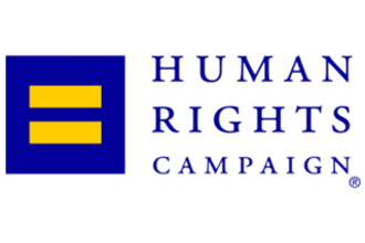Human Rights Campaign logo.