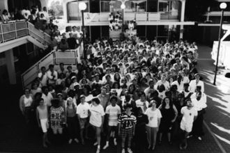 Teach For America launches in 1990 with 489 corps members