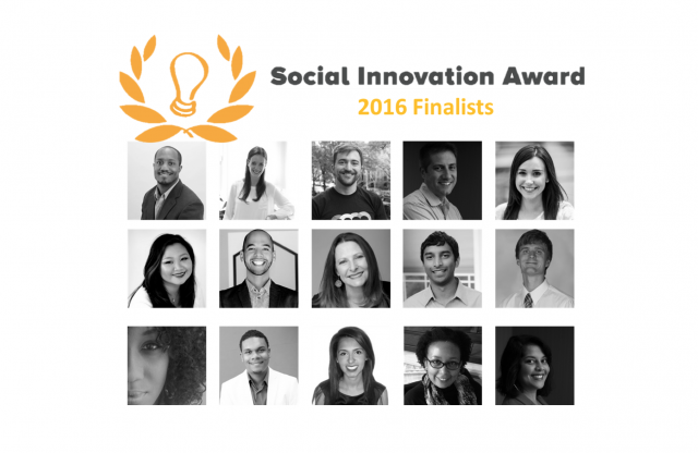 2016 Social Innovation Award Finalists