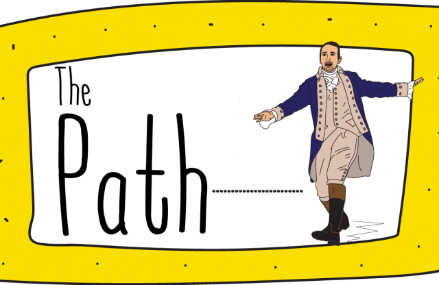 The Path, an illustration of Alexander Hamilton
