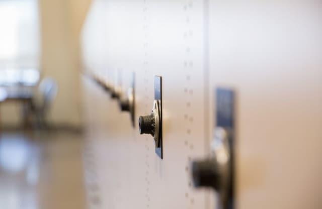 Photo of lockers