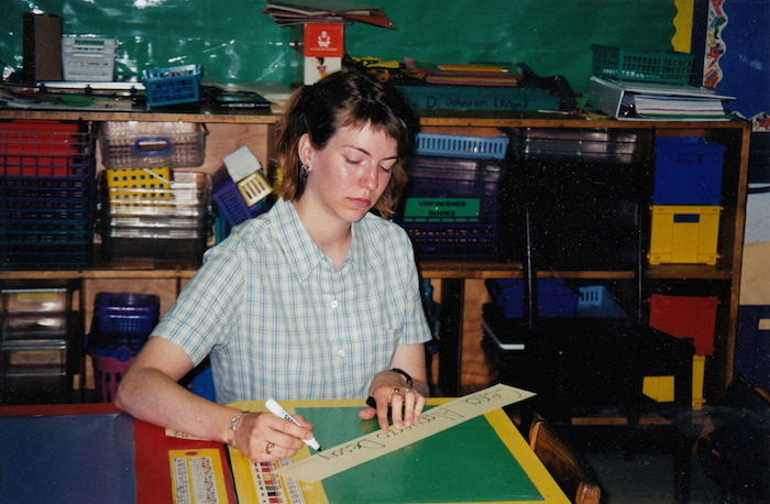 Sarah Ovink during her Teach For America corps member days in The Bay Area.