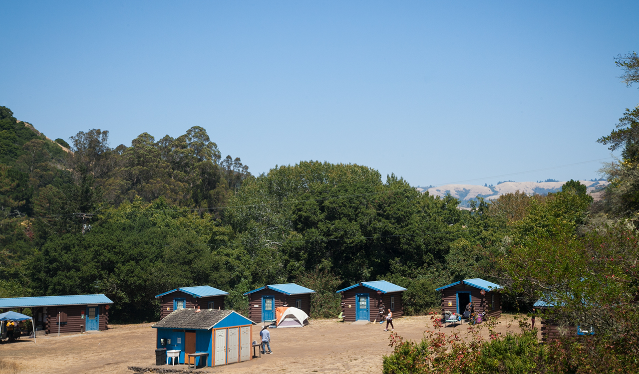 Cabins on a hill in California
