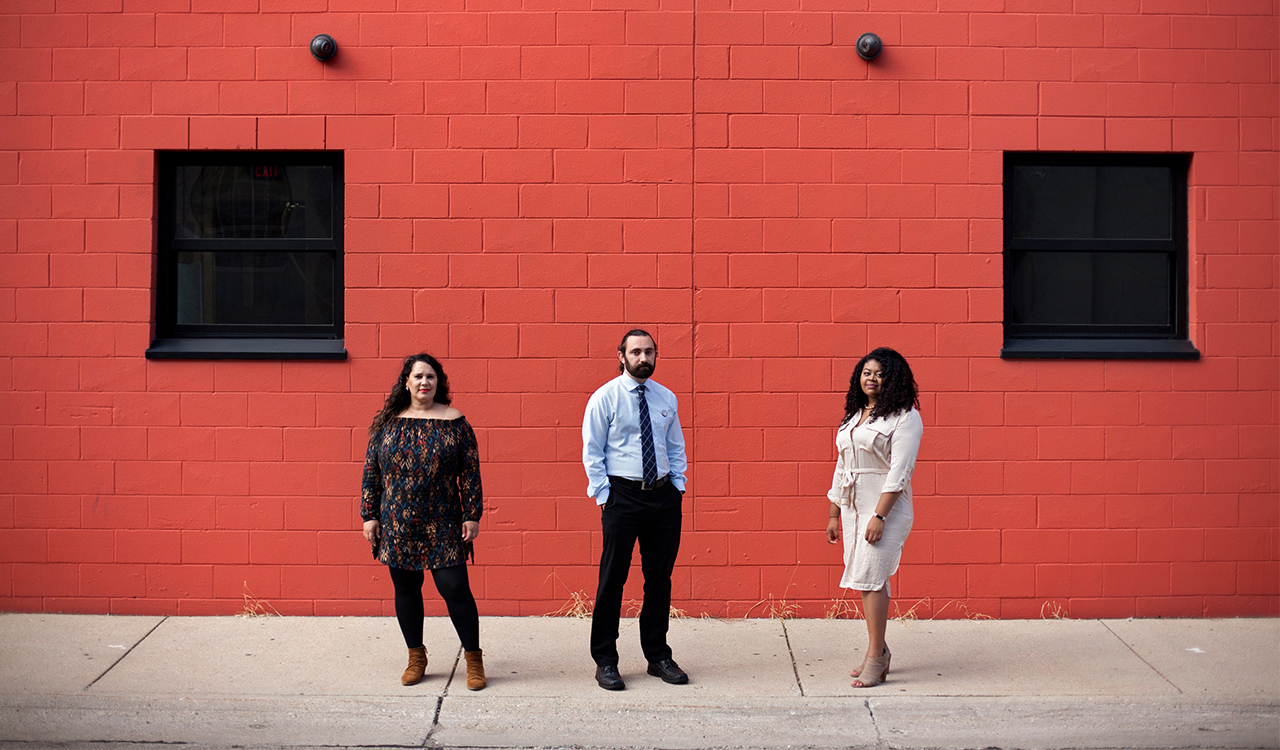Mimi Perez, Franz Meyer, and Clintel Hasan