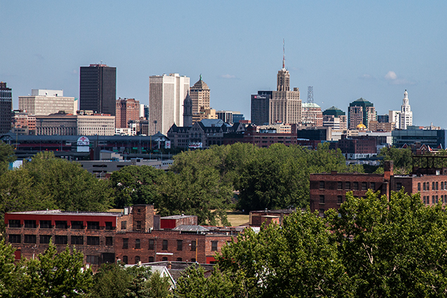 The Buffalo city skyline.