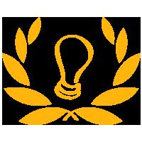 A lightbulb icon