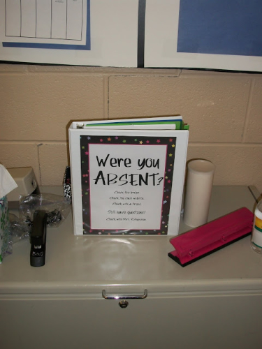 Were You Absent? binder for classroom