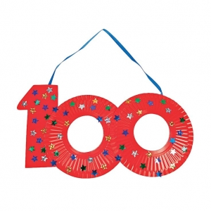 100th day of school paper plates