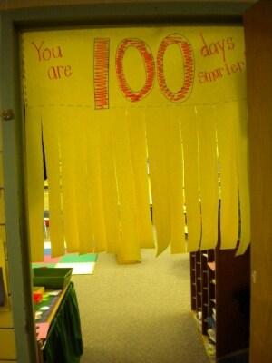 100th day of school door decor