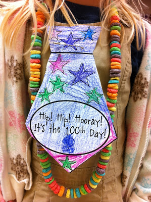 100th day of school fruit loop necklace